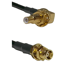 SLB Male Bulkhead on RG58C/U to MCX Female Bulkhead Cable Assembly