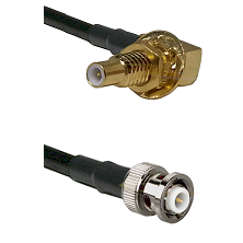 SLB Male Bulkhead on RG58C/U to MHV Male Cable Assembly