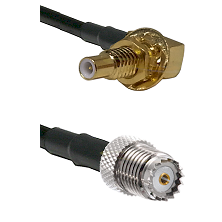 SLB Male Bulkhead on RG58 to Mini-UHF Female Cable Assembly