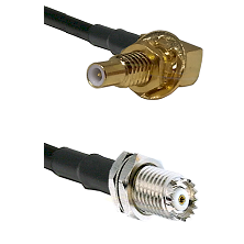 SLB Male Bulkhead on RG58C/U to Mini-UHF Female Cable Assembly