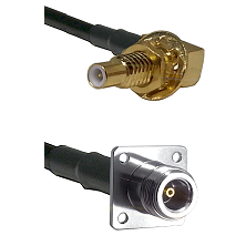 SLB Male Bulkhead on RG58C/U to N 4 Hole Female Cable Assembly