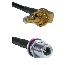 SLB Male Bulkhead on RG58C/U to N Female Bulkhead Cable Assembly