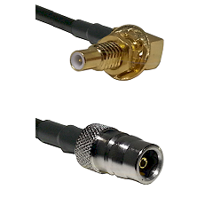 SLB Male Bulkhead on RG58C/U to QN Female Cable Assembly