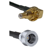 SLB Male Bulkhead on RG58C/U to QN Male Cable Assembly
