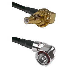 SLB Male Bulkhead on RG58C/U to 7/16 Din Right Angle Male Cable Assembly