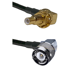 SLB Male Bulkhead on RG58C/U to C Right Angle Male Cable Assembly