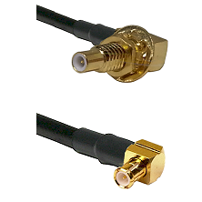 SLB Male Bulkhead on RG58C/U to MCX Right Angle Male Cable Assembly