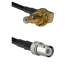 SLB Male Bulkhead on RG58C/U to BNC Reverse Polarity Female Cable Assembly