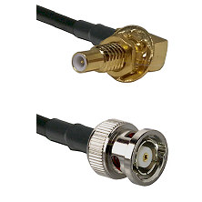 SLB Male Bulkhead on RG58C/U to BNC Reverse Polarity Male Cable Assembly