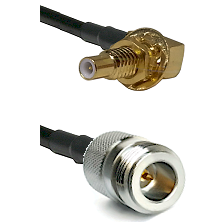 SLB Male Bulkhead on RG58C/U to N Reverse Polarity Female Cable Assembly