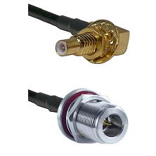 SLB Male Bulkhead on RG58C/U to N Reverse Polarity Female Bulkhead Cable Assembly