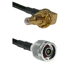 SLB Male Bulkhead on RG58C/U to N Reverse Polarity Male Cable Assembly
