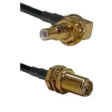 SLB Male Bulkhead on RG58C/U to SMA Reverse Polarity Female Bulkhead Cable Assembly