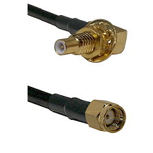 SLB Male Bulkhead on RG58C/U to SMA Reverse Polarity Male Cable Assembly