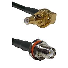 SLB Male Bulkhead on RG58 to TNC Reverse Polarity Female Bulkhead Cable Assembly