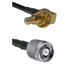 SLB Male Bulkhead on RG58C/U to TNC Reverse Polarity Male Cable Assembly