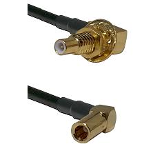 SLB Male Bulkhead on RG58C/U to SLB Right Angle Female Cable Assembly