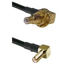 SLB Male Bulkhead on RG58C/U to SLB Right Angle Male Cable Assembly