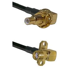 SLB Male Bulkhead on RG58C/U to SMA 2 Hole Right Angle Female Cable Assembly