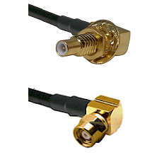 SLB Male Bulkhead on RG58C/U to SMC Right Angle Female Cable Assembly