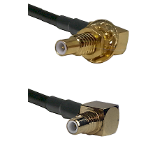 SLB Male Bulkhead on RG58C/U to SMC Right Angle Male Cable Assembly