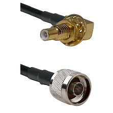 SLB Male Bulkhead on RG58C/U to N Reverse Thread Male Cable Assembly
