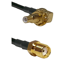 SLB Male Bulkhead on RG58C/U to SMA Reverse Thread Female Cable Assembly