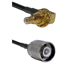 SLB Male Bulkhead on RG58 to SC Male Cable Assembly
