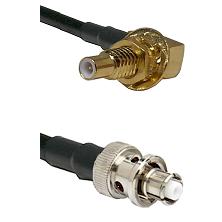 SLB Male Bulkhead on RG58C/U to SHV Plug Cable Assembly