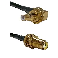 SLB Male Bulkhead on RG58C/U to SMA Female Bulkhead Cable Assembly