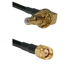 SLB Male Bulkhead on RG58C/U to SMA Male Cable Assembly