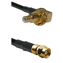 SLB Male Bulkhead on RG58C/U to SMC Male Cable Assembly
