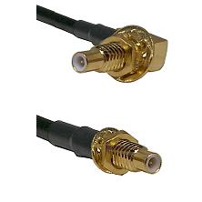 SLB Male Bulkhead on RG58C/U to SMC Male Bulkhead Cable Assembly