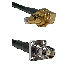 SLB Male Bulkhead on RG58C/U to TNC 4 Hole Female Cable Assembly