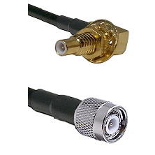 SLB Male Bulkhead on RG58C/U to TNC Male Cable Assembly