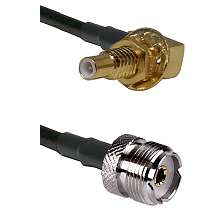 SLB Male Bulkhead on RG58C/U to UHF Female Cable Assembly