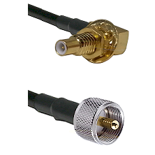 SLB Male Bulkhead on RG58C/U to UHF Male Cable Assembly