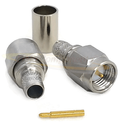 SMA Male Plug for RG58C/U, RG141, LMR195. Connectors