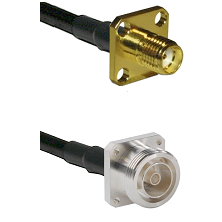 SMA 4 Hole Female on RG142 to 7/16 4 Hole Female Cable Assembly
