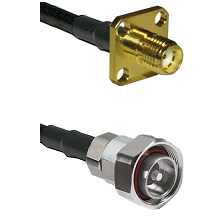 SMA 4 Hole Female on RG142 to 7/16 Din Male Cable Assembly