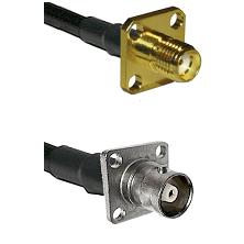 SMA 4 Hole Female on RG142 to C 4 Hole Female Cable Assembly