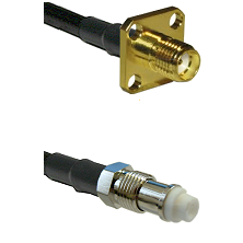 SMA 4 Hole Female on RG142 to FME Female Cable Assembly