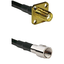 SMA 4 Hole Female on RG142 to FME Male Cable Assembly