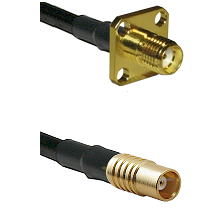 SMA 4 Hole Female on RG142 to MCX Female Cable Assembly