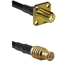 SMA 4 Hole Female on RG142 to MCX Male Cable Assembly