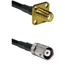 SMA 4 Hole Female on RG142 to MHV Female Cable Assembly