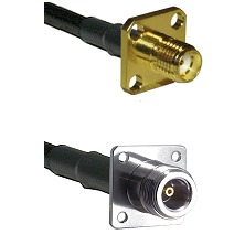 SMA 4 Hole Female on RG142 to N 4 Hole Female Cable Assembly