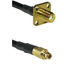 SMA 4 Hole Female Connector On RG316DS Double Shielded To MMCX Male Connector Coaxial Cable Assembl