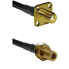 SMA 4 Hole Female Connector On RG316DS Double Shielded To SSMB Female Bulkhead Connector Coaxial Ca