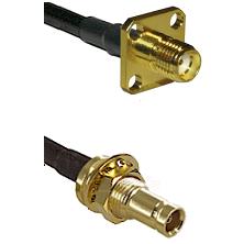 SMA 4 Hole Female on RG58C/U to 10/23 Female Bulkhead Cable Assembly
